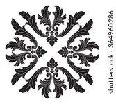 vintage baroque frame scroll... | Shutterstock .eps vector #364960286