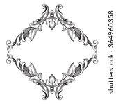 vintage baroque frame scroll... | Shutterstock .eps vector #364960358