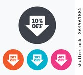 sale arrow tag icons. discount... | Shutterstock .eps vector #364961885