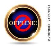 offline icon. internet button... | Shutterstock . vector #364975985