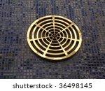 gold circular grate background... | Shutterstock . vector #36498145