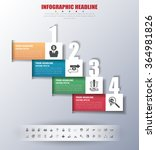 timeline infographics with... | Shutterstock .eps vector #364981826
