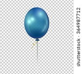 Blue Transparent Ballon.