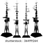 telecommunications tower vector ...   Shutterstock .eps vector #36499264