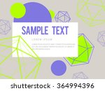 abstract geometric triangle and ... | Shutterstock .eps vector #364994396