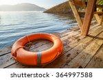 Orange Life Buoy.water Rescue...