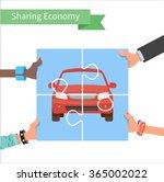 car share concept. sharing...   Shutterstock .eps vector #365002022
