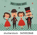 photo booth party invitations ... | Shutterstock .eps vector #365002868