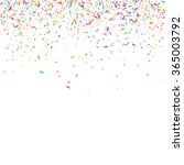 abstract colorful confetti... | Shutterstock .eps vector #365003792
