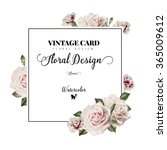 greeting card with roses ... | Shutterstock . vector #365009612