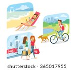 people go for shopping  relax... | Shutterstock .eps vector #365017955