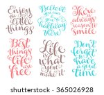 vector set of calligraphic text ... | Shutterstock .eps vector #365026928