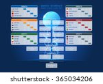 match schedule  template for... | Shutterstock .eps vector #365034206