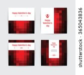 happy valenines day  greeting... | Shutterstock .eps vector #365043836