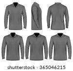 men's slim fitting polo shirt ... | Shutterstock .eps vector #365046215
