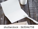 blank invitation greetings card | Shutterstock . vector #365046758