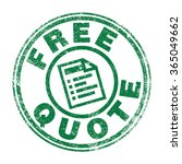 free quote stamp | Shutterstock .eps vector #365049662