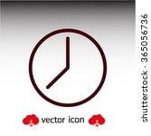 clock  linear icon. one of a...