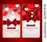 set of two red valentines day... | Shutterstock .eps vector #365057978