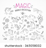 hand drawn  magic  unicorn and... | Shutterstock .eps vector #365058032