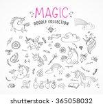 hand drawn  magic  unicorn and...