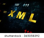 database concept  xml on... | Shutterstock . vector #365058392