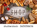 breads  pastries  christmas... | Shutterstock . vector #365058656