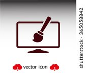 monitor  design   icon. one of...