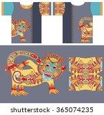 original t shirt design with... | Shutterstock . vector #365074235