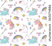 magic hand drawn pattern  ... | Shutterstock .eps vector #365074886