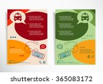 taxi icon on abstract brochure... | Shutterstock .eps vector #365083172