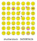 facial expression icon variation | Shutterstock . vector #365085626