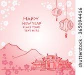 mid autumn festival for chinese ... | Shutterstock .eps vector #365094416