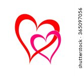 love concept  shaped as hearts... | Shutterstock .eps vector #365097056