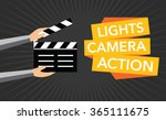 cinema lights camera action... | Shutterstock .eps vector #365111675