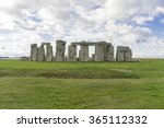 stonehenge  on a cloudy winter... | Shutterstock . vector #365112332