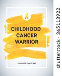 childhood cancer awareness... | Shutterstock .eps vector #365113922