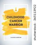 childhood cancer awareness...   Shutterstock .eps vector #365113922