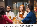 friends dining and drinking... | Shutterstock . vector #365120795