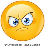 annoyed emoticon | Shutterstock .eps vector #365123555