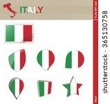 italy flag set  flag set 22.... | Shutterstock . vector #365130758