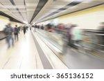 Escalator In A Subway Station...
