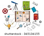 astronomy and science colorful... | Shutterstock .eps vector #365136155