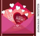 love card for valentines day ... | Shutterstock .eps vector #365137226