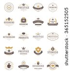 vintage crowns logos set.... | Shutterstock .eps vector #365152505