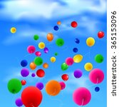 sky background with colorful... | Shutterstock . vector #365153096
