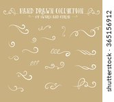 unique collection of hand drawn ... | Shutterstock .eps vector #365156912