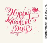the lettering   happy valentine'... | Shutterstock .eps vector #365159276