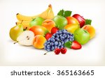 fresh juicy fruit and berries... | Shutterstock .eps vector #365163665