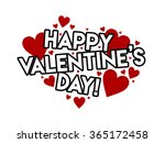 happy valentine's day greeting... | Shutterstock . vector #365172458